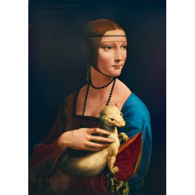 Bluebird-Puzzle - 1000 pieces - Leonardo Da Vinci - Lady with an Ermine, 1489