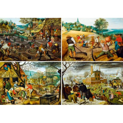 Bluebird-Puzzle - 1000 pieces - Pieter Brueghel the Younger - The Four Seasons