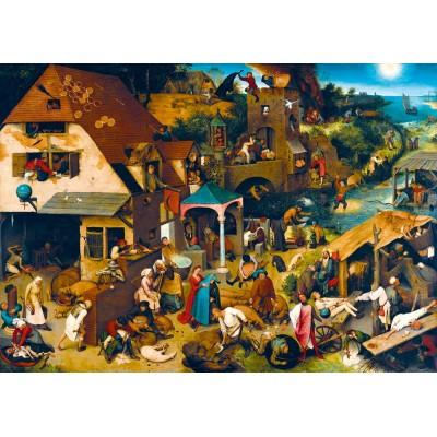 Bluebird-Puzzle - 1000 pieces - Pieter Bruegel the Elder - Netherlandish Proverbs, 1559