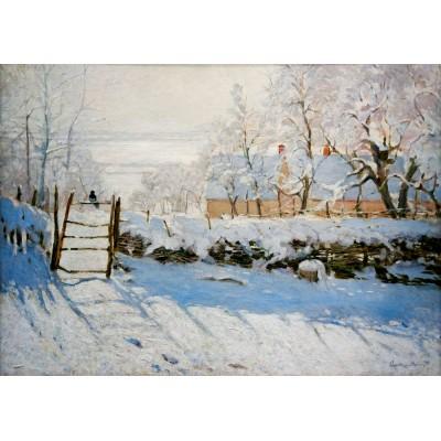 Bluebird-Puzzle - 1000 pieces - Claude Monet - The Magpie, 1869