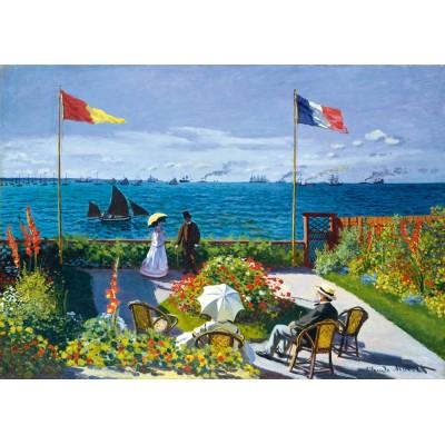 Bluebird-Puzzle - 1000 Teile - Claude Monet - Garden at Sainte-Adresse, 1867