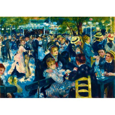 Bluebird-Puzzle - 1000 pieces - Renoir - Dance at Le Moulin de la Galette, 1876