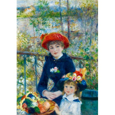 Bluebird-Puzzle - 1000 pieces - Renoir - Two Sisters (On the Terrace), 1881