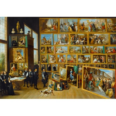 Bluebird-Puzzle - 1000 pièces - David Teniers the Younger - The Art Collection of Archduke Leopold Wilhelm in Brussels, 1652