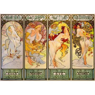 Bluebird-Puzzle - 1000 Teile - Mucha - Four Seasons, 1900