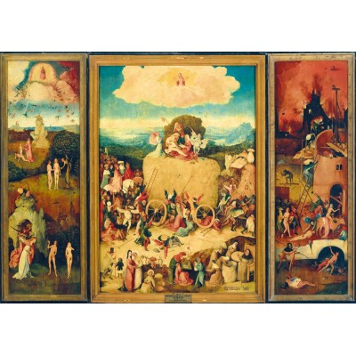 Bluebird-Puzzle - 1000 pieces - Bosch - The Haywain Triptych