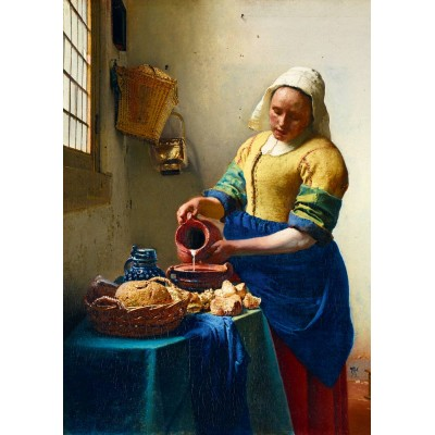 Bluebird-Puzzle - 1000 pieces - Vermeer- The Milkmaid, 1658