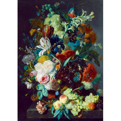 Bluebird-Puzzle - 1000 Teile - Jan Van Huysum - Still Life with Flowers and Fruit, 1715