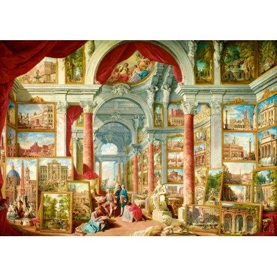 Bluebird-Puzzle - 1000 pieces - Panini - Picture Gallery with Views of Modern Rome, 1757