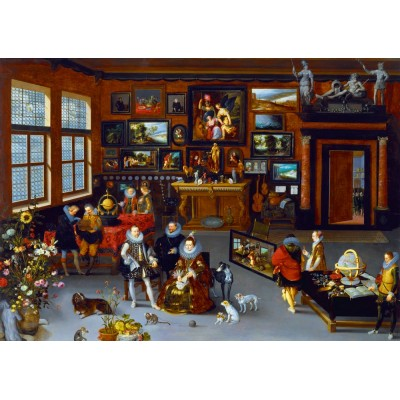 Bluebird-Puzzle - 1000 pièces - Hieronymus Francken Iicirca - The Archdukes Albert and Isabella Visiting a Collector's Cabinet, 1623