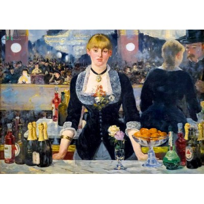 Bluebird-Puzzle - 1000 pieces - Édouard Manet - A Bar at the Folies-Bergère, 1882