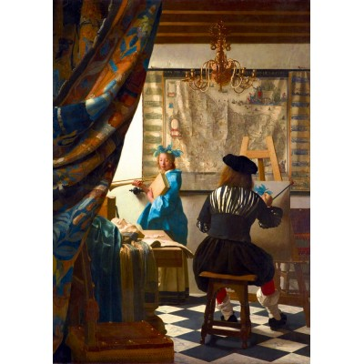 Bluebird-Puzzle - 1000 pieces - Johannes Vermeer - Art of Painting, 1668