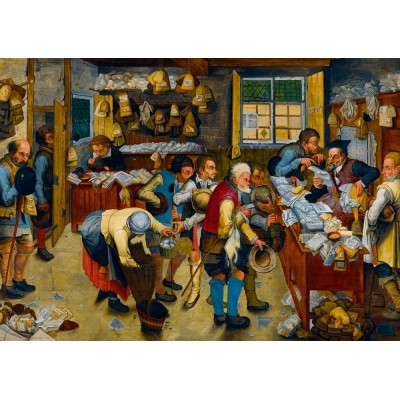 Bluebird-Puzzle - 1000 Teile - Pieter Brueghel the Younger - The Tax-collector's Office, 1615