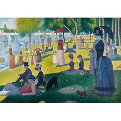 Bluebird-Puzzle - 1000 pièces - Georges Seurat - A Sunday Afternoon on the Island of La Grande Jatte, 1886