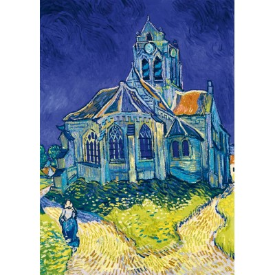 Bluebird-Puzzle - 1000 pieces - Vincent Van Gogh - The Church in Auvers-sur-Oise, 1890