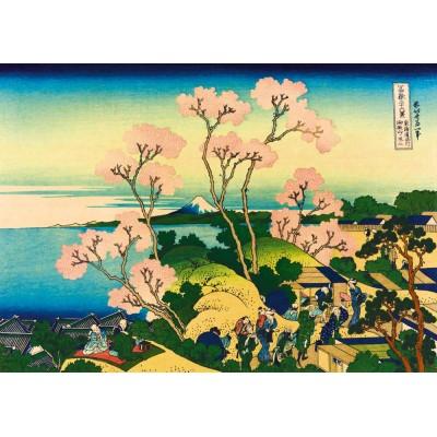 Bluebird-Puzzle - 1000 pieces - Katsushika Hokusai - Shinagawa on the Tokaido, 1832
