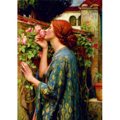 Bluebird-Puzzle - 1000 Teile - John William Waterhouse - The Soul of the Rose, 1903