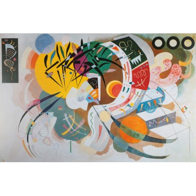 Bluebird-Puzzle - 1000 Teile - Kandinsky - Courbe dominante, 1936