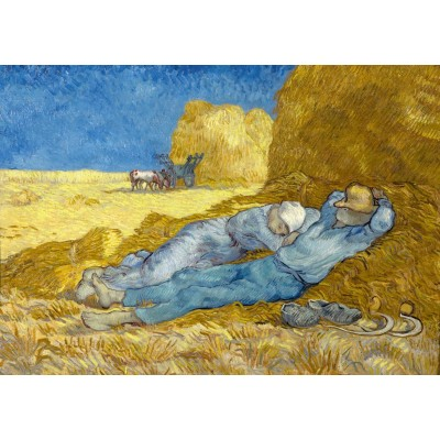 Bluebird-Puzzle - 1000 pieces - Vincent Van Gogh - The siesta (after Millet), 1890