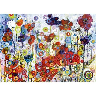 Bluebird-Puzzle - 1000 Teile - Sally Rich - Poppies