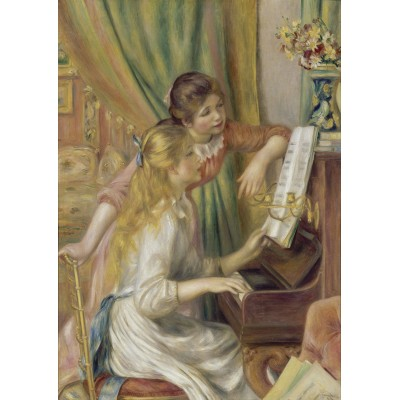 Bluebird-Puzzle - 1000 pieces - Auguste Renoir - Young Girls at the Piano, 1892