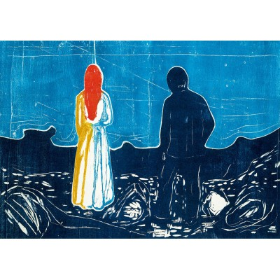 Bluebird-Puzzle - 1000 Teile - Edvard Munch - Two People: The Lonely Ones, 1899