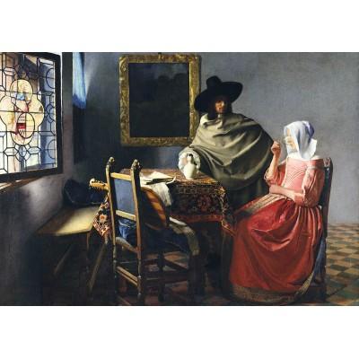 Bluebird-Puzzle - 1000 pieces - Johannes Vermeer - The Glass of Wine, 1661