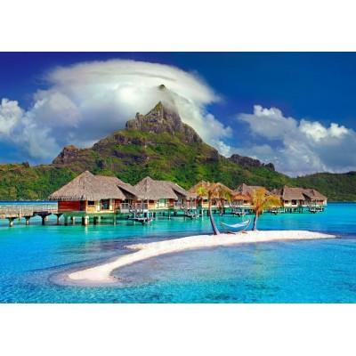 Bluebird-Puzzle - 500 pièces - Bora Bora, Tahiti