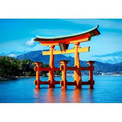 Bluebird-Puzzle - 1500 pieces - The torii of Itsukushima Shrine