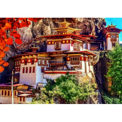 Bluebird-Puzzle - 500 Teile - Taktsang, Bhutan
