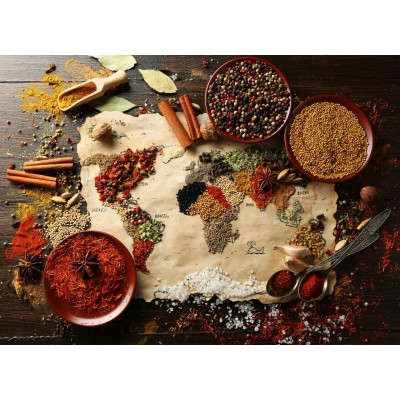 Bluebird-Puzzle - 3000 pieces - World Map in Spices