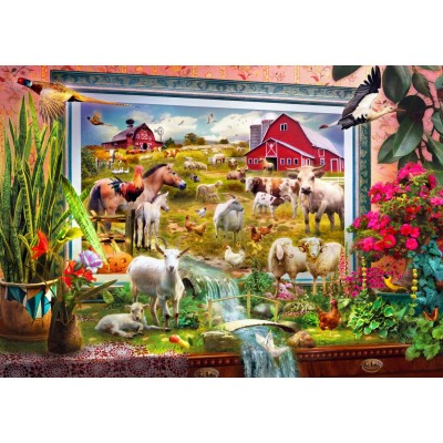 Bluebird-Puzzle - 1000 pieces - Magic Farm Painting