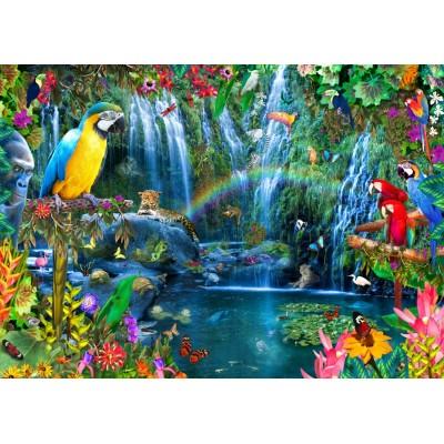 Bluebird-Puzzle - 3000 pieces - Parrot Tropics