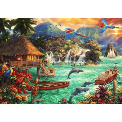 Bluebird-Puzzle - 2000 pieces - Island Life