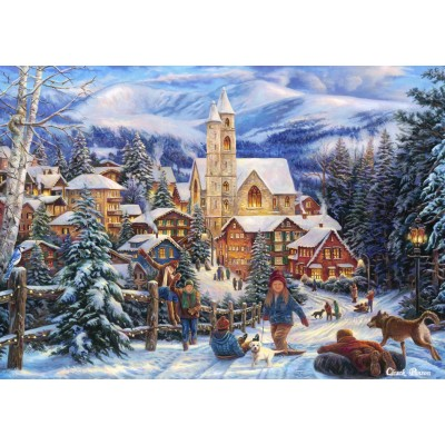 Bluebird-Puzzle - 1500 pieces - Sledding To Town