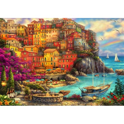 Bluebird-Puzzle - 2000 pieces - A Beautiful Day at Cinque Terre