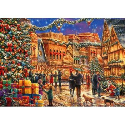 Bluebird-Puzzle - 2000 pieces - Christmas at the Town Square
