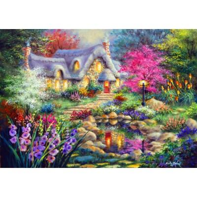 Bluebird-Puzzle - 1500 pieces - Cottage Pond