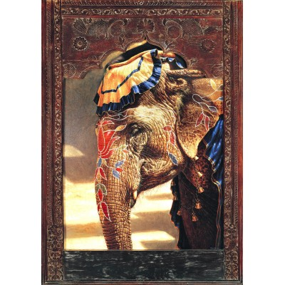 Bluebird-Puzzle - 2000 pieces - Painted Lady With Frame