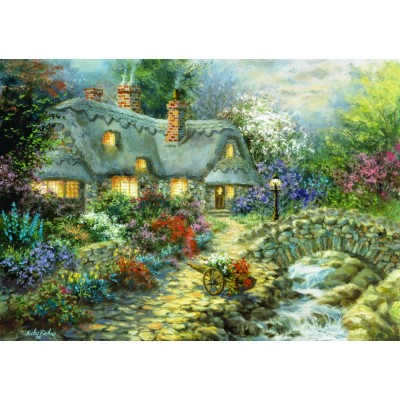 Bluebird-Puzzle - 1000 pieces - Country Cottage