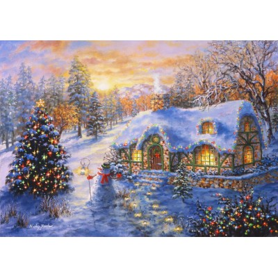 Bluebird-Puzzle - 2000 pieces - Christmas Cottage