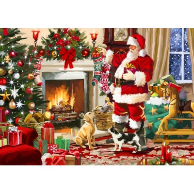 Bluebird-Puzzle - 500 pieces - Santa Interior