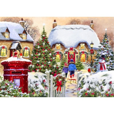 Bluebird-Puzzle - 1000 pieces - Winter Cottage