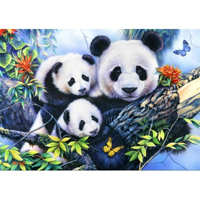 Bluebird-Puzzle - 1000 pieces - Panda Family