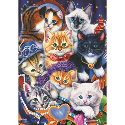 Bluebird-Puzzle - 1000 pieces - Kittens In Closet