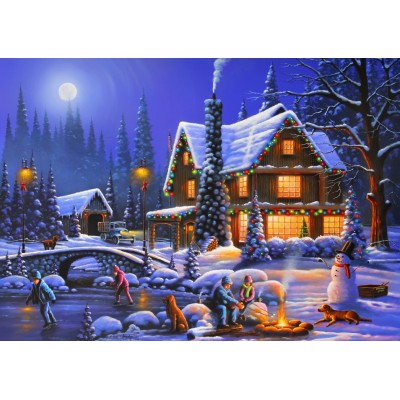 Bluebird-Puzzle - 500 pieces - Holiday Spirit