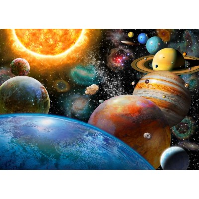 Bluebird-Puzzle - 500 pieces - Planets and Their Moons