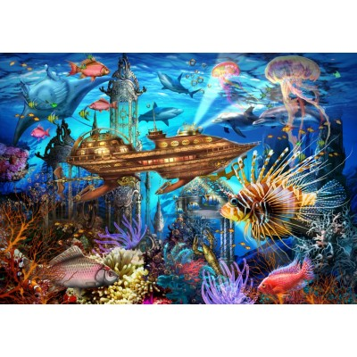 Bluebird-Puzzle - 1000 pieces - Aqua City