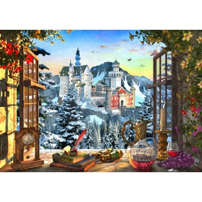 Bluebird-Puzzle - 1000 pieces - Mountain Castle
