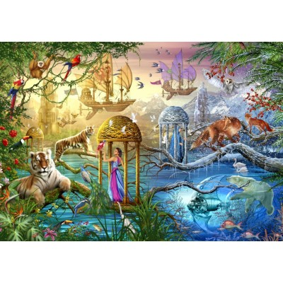 Bluebird-Puzzle - 1000 pieces - Shangri La